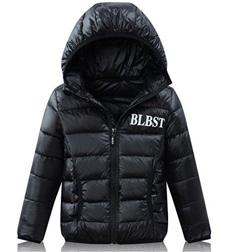 d Winter Hooded Down Coat Lightweight Puffer Jacket Hoodies Parka (Boys Puffy Jackets)