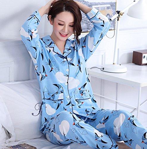MH-RITA Venta caliente Otoño e Invierno Algodón Pijama Mujer chica ...
