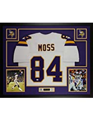Randy Moss Autographed White Minnesota Vikings Jersey - Beautifully Matted  and Framed - Hand Signed By da4e6131a