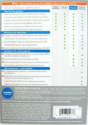 Intuit 424529 Turbotax Premier 2014 Federal Plus State Plus Federal E-File Tax
