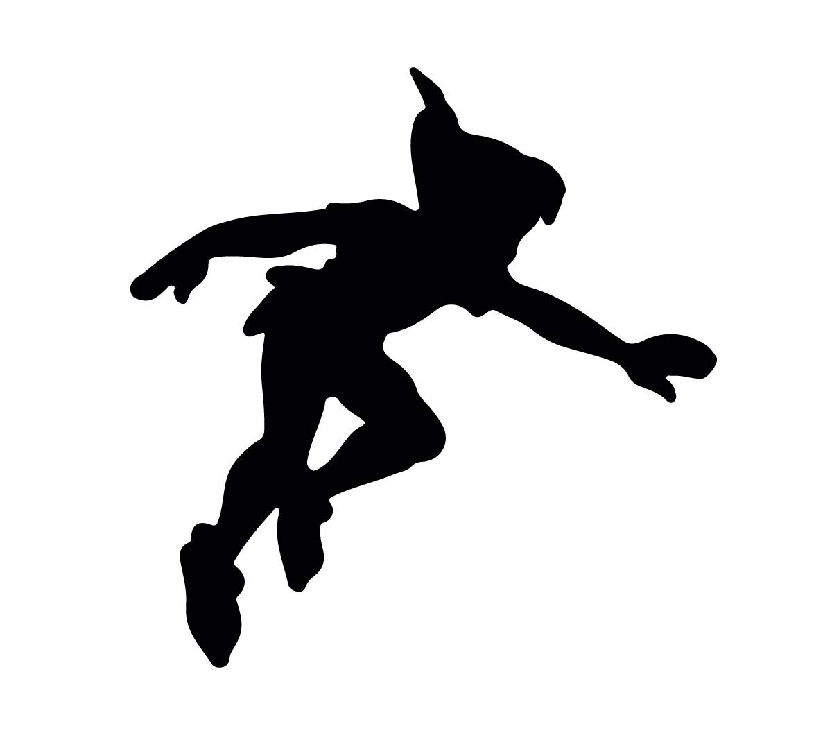 Peter Pan Wall Decal - Shadow - Disney Vinyl Sticker Silhouette Kid's Playroom, Bedroom Decoration Nursery Decor Custom Vinyl Decor