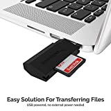 Sabrent SuperSpeed 2-Slot USB 3.0 Flash Memory Card Reader for Windows, Mac, Linux, and Certain Android Systems - Supports SD, SDHC, SDXC, MMC/MicroSD, T-Flash