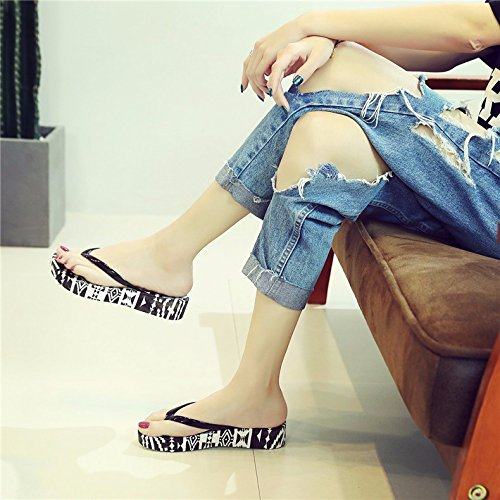 slippers The the and summer Korean XIAOGEGE bottom Camo cool thick skid of version the flip slope new the the flops xpdwA