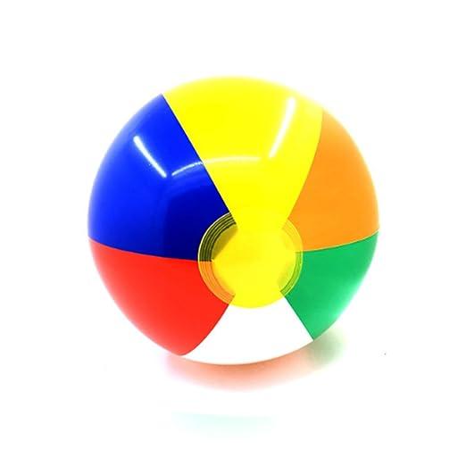 Rocita 6pcs Bola Inflable de Color Pelota de Juguete de Playa ...