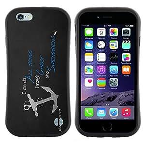"""Hypernova Slim Fit Dual Barniz Protector Caso Case Funda Para Apple Iphone 6 Plus / 6S Plus ( 5.5 ) [Todas las cosas en Cristo Jesús""""]"""