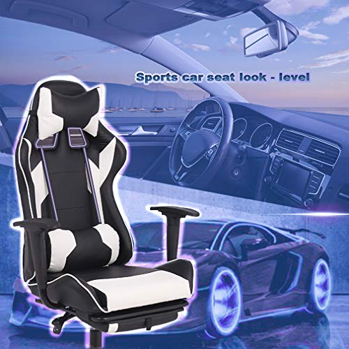 BestOffice Office Chair Chair High with Footrest and