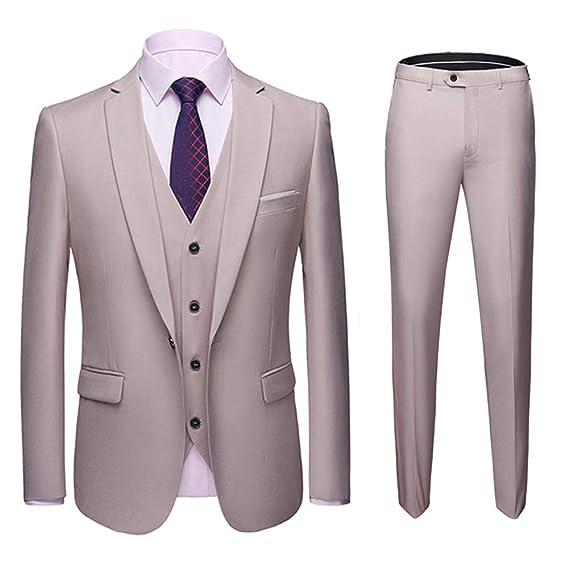 d020484480b11 Men's 3 Piece Suits Slim Fit Wedding Tuxedo Suit for Men Classic 1 ...
