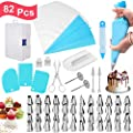 Cake Decorating Kit 82 Pcs Jddz New Baking Supplies Cookie Decorating Kit With Icing Bags And Tips New Cupcake Decorating Kit With 48 Tips And 20 Icing Bags With Pattern Chart