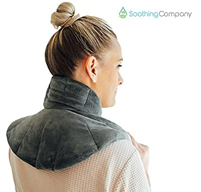 Microwavable Heating Pad for Neck Pain and Shoulder Pain Relief | Herbal Aromatherapy | Hot/Cold Neck Wrap | Perfect for Headache, Anxiety and Stress Relief