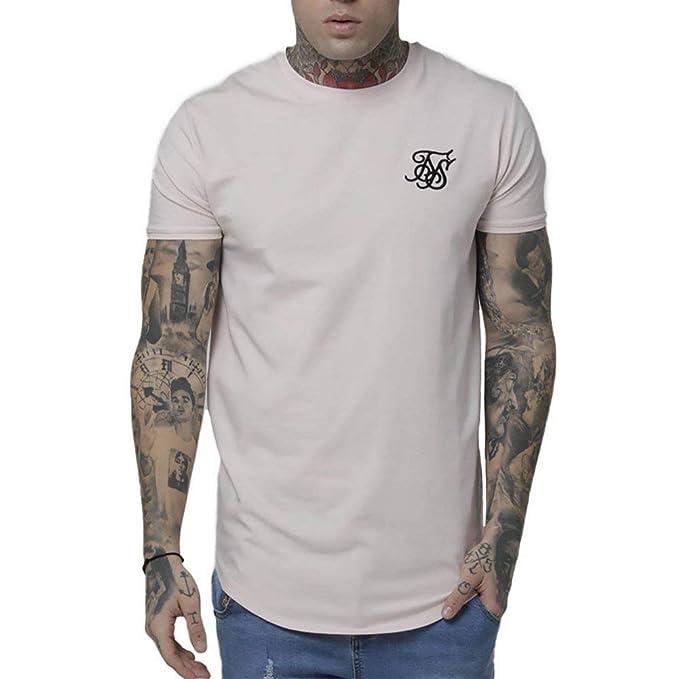 Sik Silk Gym Camiseta Hombre Rosa: Amazon.es: Ropa y accesorios