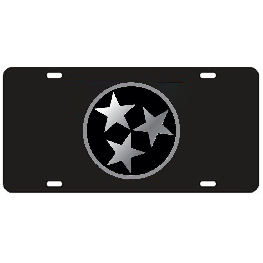 Amazon.com: Tennessee Volunteers Black Tri-Star Laser Cut License ...