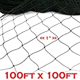 New Anti Bird Netting 100ft X 100ft Net Netting Aviary Game Poultry Bird 1''x1'' Mesh