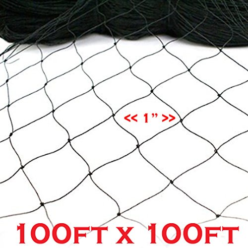 New Anti Bird Netting 100ft X 100ft Net Netting Aviary Game Poultry Bird 1''x1'' Mesh by Mcage