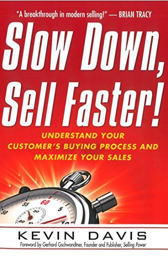 The biggest mistake you're making in your sales career right now is equating a faster pitch with a faster close. Believe it or not, you will actually experience greater success if you slow down. Slow Down, Sell Faster! shows you how to stop jumping t...