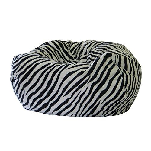 Gold Medal Bean Bags Small/Toddler Safari Micro-Fiber Suede Bean Bag, Zebra
