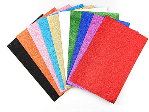 Sticky Foam Garden (ALL in ONE 10 Color Glitter Sticky Back Foam Sheets Art Craft Project 10/pkg 20x30cm)