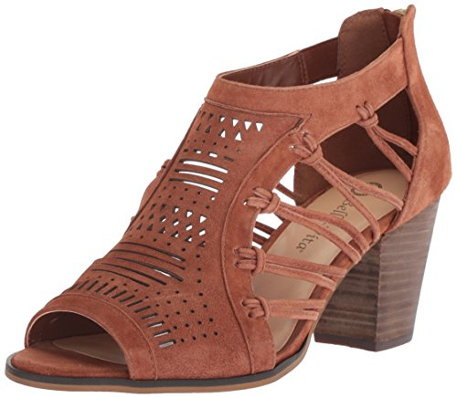 Bella Vita Women's KORTEZ Heeled Sandal, Dark TAN Leather, 9.5 M US