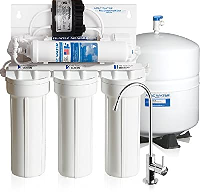 APEC Top Tier Supreme High Efficiency Permeate Pumped Ultra Safe Reverse Osmosis Drinking Water Filter System For Low Pressure Homes (ULTIMATE RO-PERM)