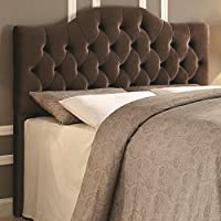 Upholstered King/Cali King Headboard in Coffee Velvet - Grayish Brown