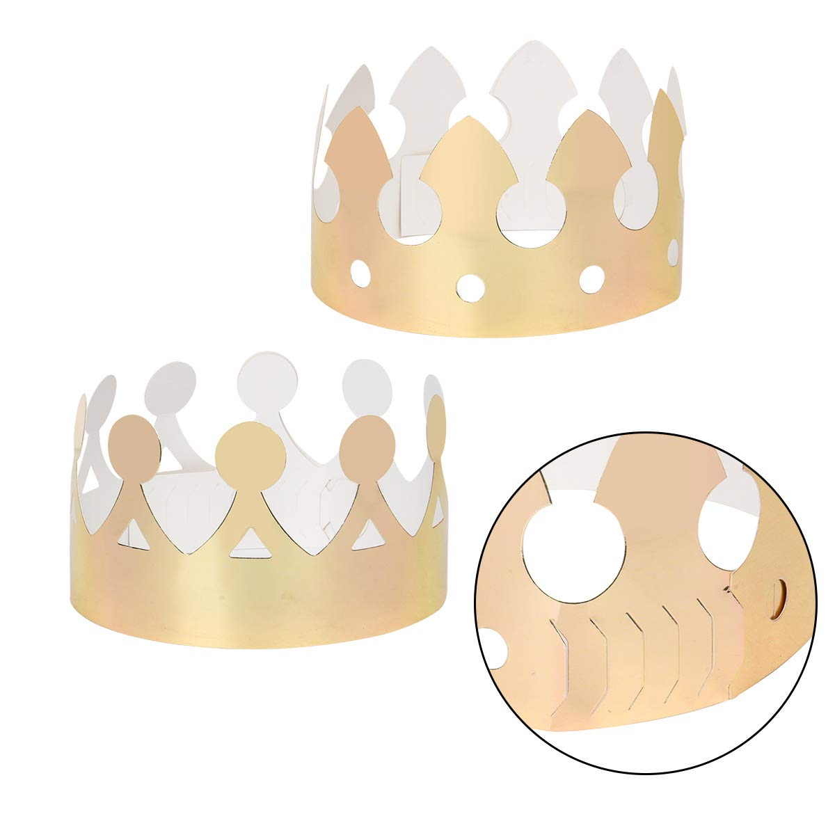 Natale Baby Showe Funhoo 18 Pezzi Cappello Oro Corona per Compleanno Adatto per Adulti e Bambini