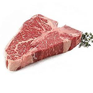 New York Prime Beef - T Bone - 4 x 20 Oz. Steaks - CARVED FROM A WHOLE DRY AGED SHORT LOIN - THE BEST STEAK ON THE PLANET via Fed Ex overnight