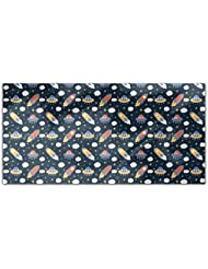 Rockets And Clouds Rectangle Tablecloth Large Dining Room Kitchen Woven Polyester Custom Print