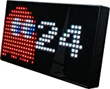 PAC-MAN-Premium-LED-Desk-Clock-512-Vibrant-LEDs-Display-Classic-Animations-From-the-Hit-Arcade-Video-Game-Officially-Licensed-Merchandise-Great-8-bit-Retro-Gift