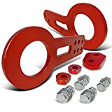 tow hook accord - Glossy Red Anodized Aluminum Billet Style Front, Rear Tow Hook Racing 2Pcs Set