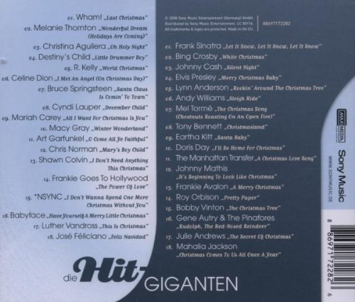 Hit Giganten Weihnachten.Die Hit Giganten Weihnachten Various Amazon De Musik