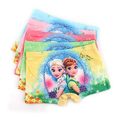 LEMONBABY My Little Pony Little Girls' Assorted Boxer Briefs (Pack of 5) (3-4T, FROZEN)