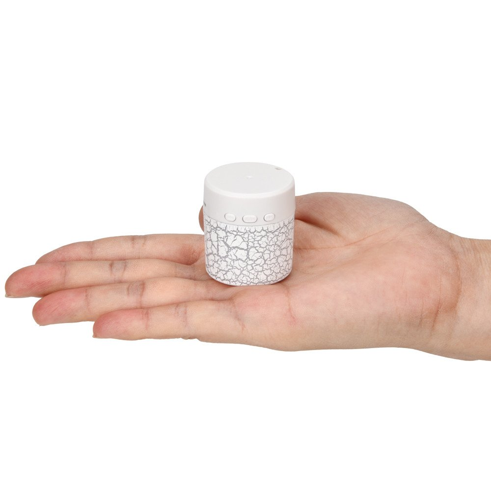 Saying Mini Portable Wireless Bluetooth Speaker Supports TF Card with LED (White)