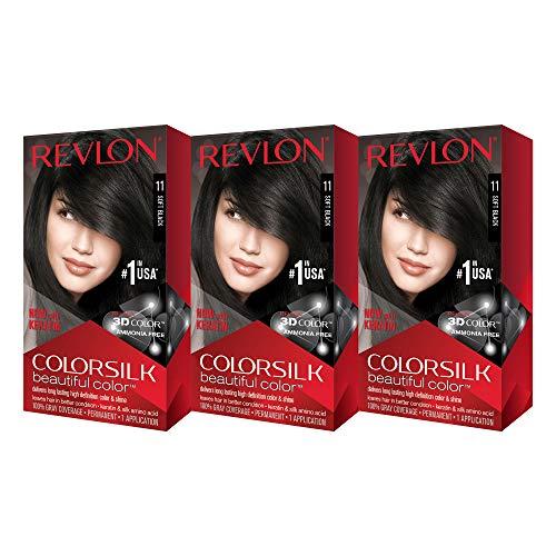 Revlon ColorSilk Beautiful Color, Soft Black [11] 1 ea (Pack of 3) (Best Hair Dye For Black Women)