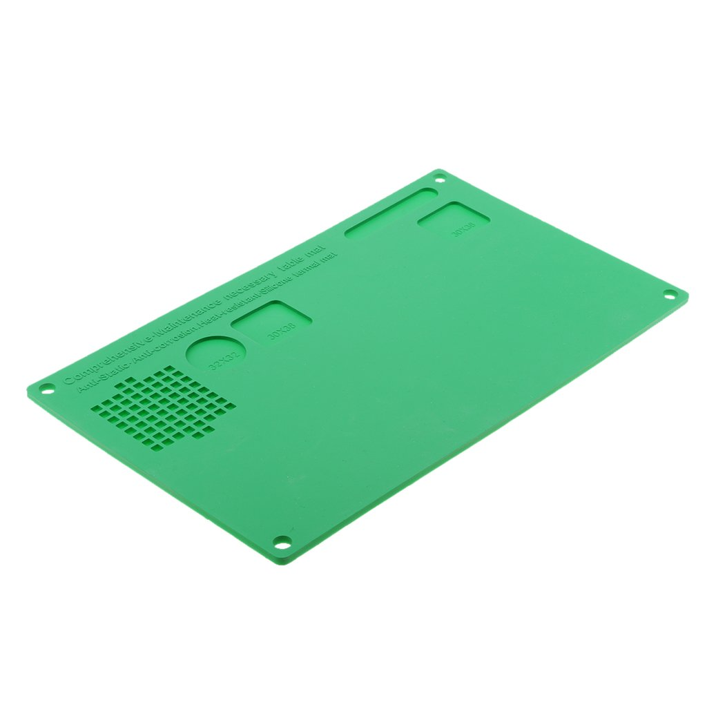 Homyl Large Soldering Pad Heat Resistant 932°F Silicone Solder Mat for BGA Soldering Station,Cell Phone,Watch Repair Work Surface Welding Blanket/Sheet 12.99x7.87inch