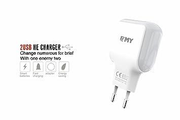 EMY (PAIDE Cargador RÁPIDA MY-220 Android 2.4 A 2 USB ...