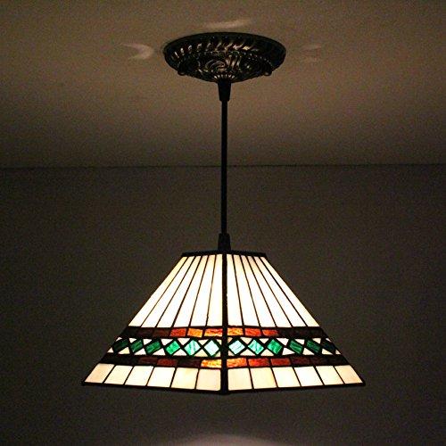 TOYM US-8 inch Tiffany European simple geometric glass chandeliers (Geometric Chandelier Stained Glass)