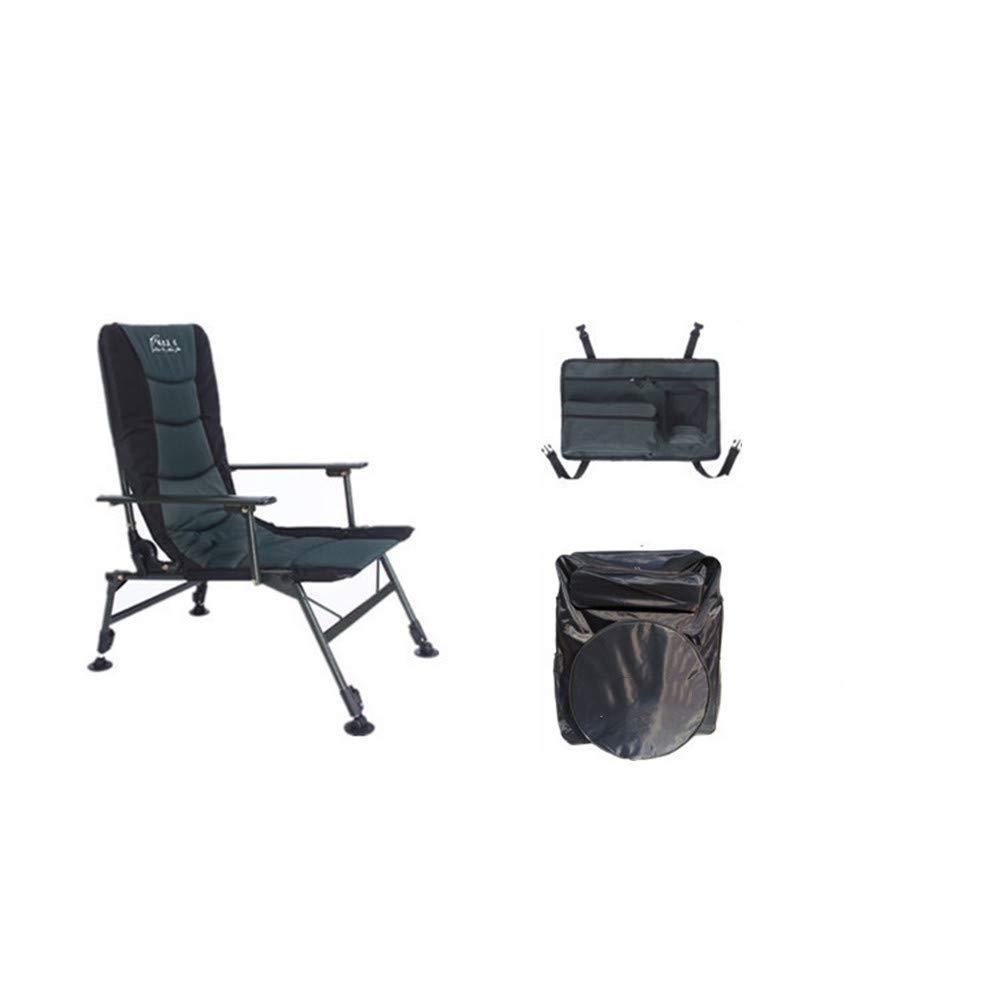 Tragbare Camping Stuhl Zusammenklappbarer kampierender Stuhl-beruflicher faltender Fischen-Stuhl-Klubsessel-Fischen-justierbarer Schemel mit Tragetasche und Aufbewahrungstasche Wanderer, Camp, Strand