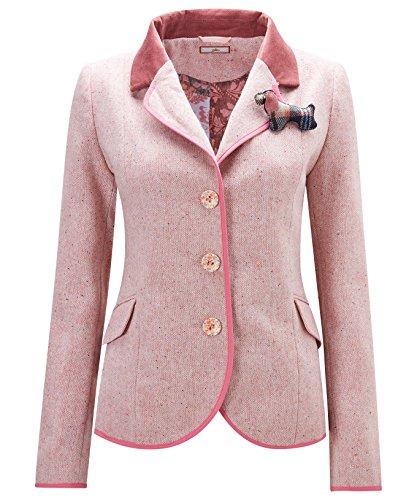 Joe Browns Womens Button up Tweed Jacket Pink 4