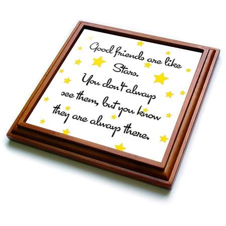 Star Trivet (3dRose trv_193474_1 Good Friends Are Like Stars Trivet with Ceramic Tile, 8 by 8