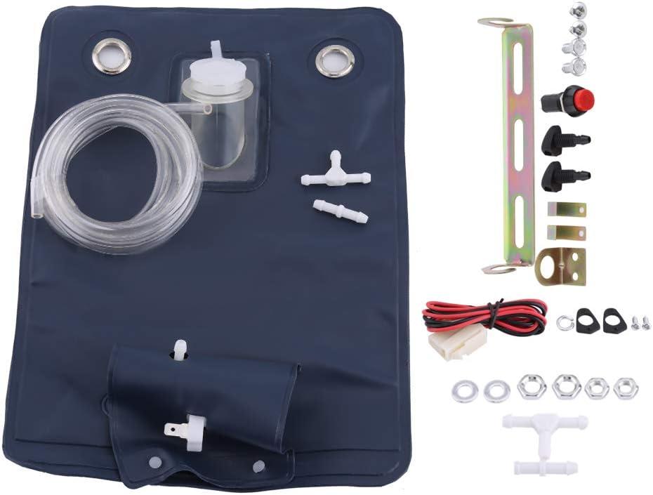 1 pi/èces outil de lave-glace Kit de sac de pompe de lave-glace universel 12 V avec interrupteur /à bouton de Jet pour voitures classiques