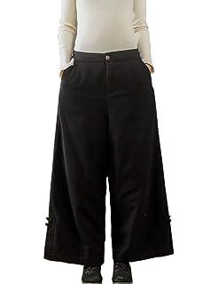 302f3a1701e4b BUYKUD Women Trousers Casual Loose Cotton Linen Wide Leg Solid Color Plus  Size Harem Ladies Pants