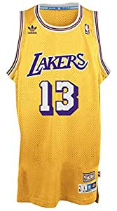Wilt Chamberlain Los Angeles Lakers Adidas NBA Throwback Swingman Jersey - Gold