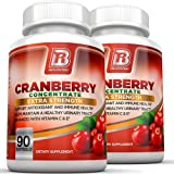 BRI Nutrition 3x Strength 12,600mg CranGel Power Plus: High Potency, Maximum Strength Cranberry SoftGel Capsules Fortified with Vitamins C and Natural E - 90 Softgels 2-PK
