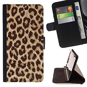 - Cheetah Golden Brown Animal Pattern - - Monedero PU titular de la tarjeta de cr????dito de cuero cubierta de la caja de la bolsa FOR Apple Iphone 5C RetroCandy