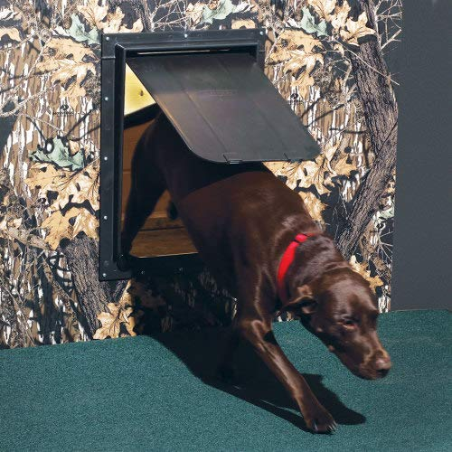 Magnador Kennel Dog Door, Large Mag 2 - 13'' X 19.75'' Flap. Standard Magnet, Bronze