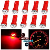 99 yukon dash board - cciyu 10 Pack Red T5 74 3-3014SMD Car Dashboard Panel Gauge Side LED Light Bulbs Lamp 12V For 1995-1997 1999-2002 Dodge Spirit Viper Stealth B3500 B2500 Ram 3500 Ram 2500 Intrepid Avenger Durango