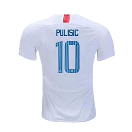 f5b3fc37e Ansoy Mens Pulisic Jersey #10 National 2018/19 Christian US Home Sizes  White (