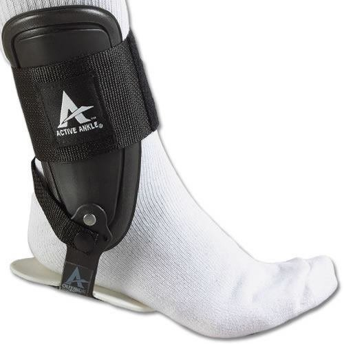 Active Ankle T2 Rigid Ankle Brace For Injured Ankle Protection and Sprain Support, Black, Small