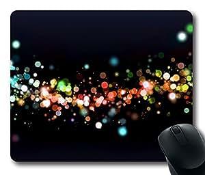 Colorful Night Bokeh Mouse Pad Desktop Laptop Mousepads Comfortable Office Mouse Pad Mat Cute Gaming Mouse Pad