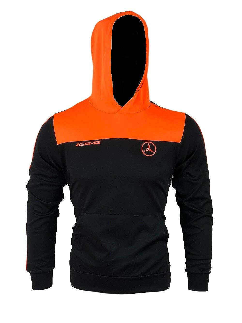 Furia Rossa Nouveaut/é Ensemble surv/êtement Court /ét/é Homme Mercedes Noir Orange Fluo 91279