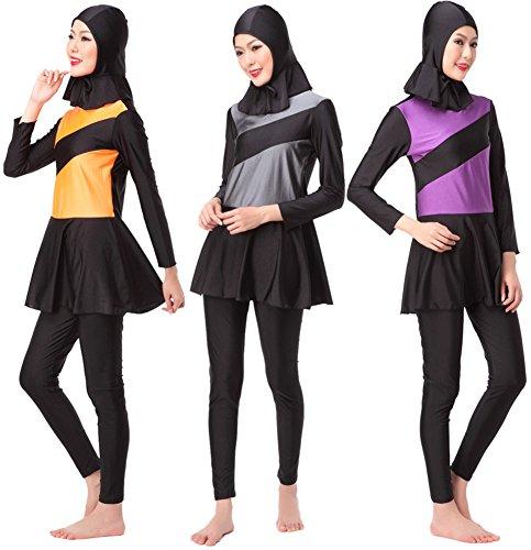 YEESAM Muslimische Islamisch Bademode Badeanzug für Frauen - Neu Klassik Bescheidene Badebekleidung Burkini für muslimische frauen
